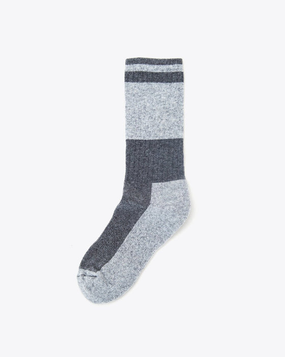 Wool Crew Sock Charcoal/Grey