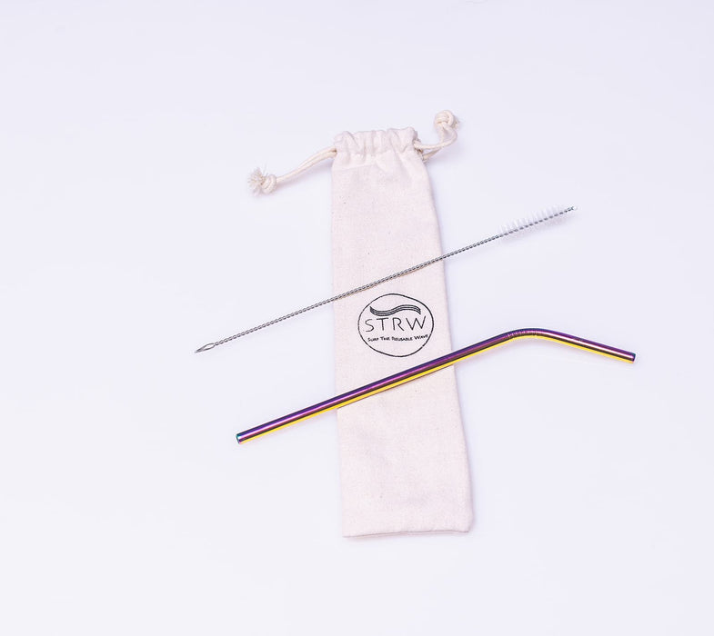 Reusable Bent Stainless Steel Straw