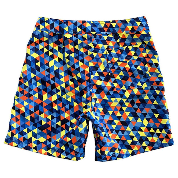 "La Palma Eco-Beachwear Surf Geometric Blue 17"" Boardshorts"