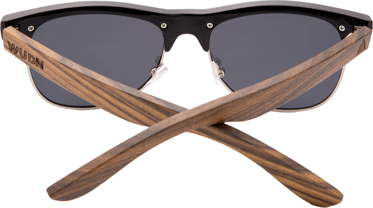 Real Ebony Browline Style RetroShade Sunglasses by WUDN