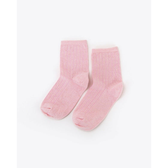Cotton Mid Sock Rose