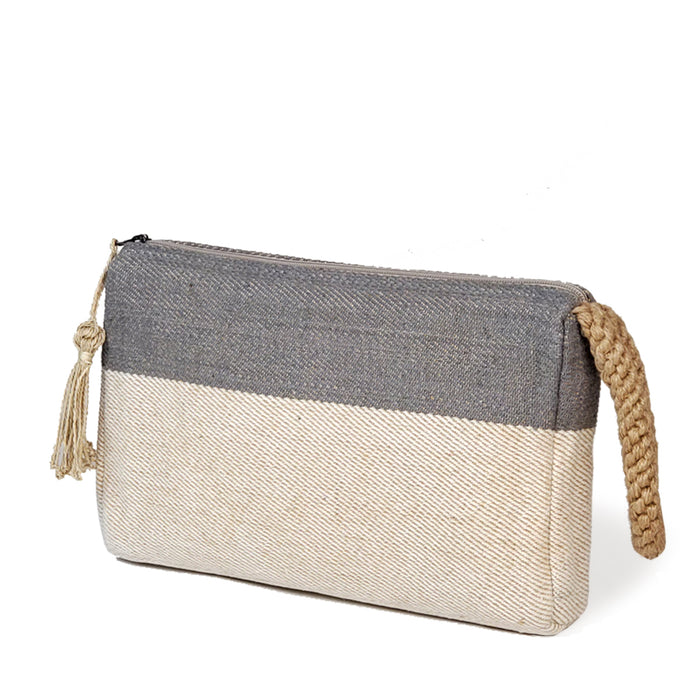 Block A Clutch - Gray