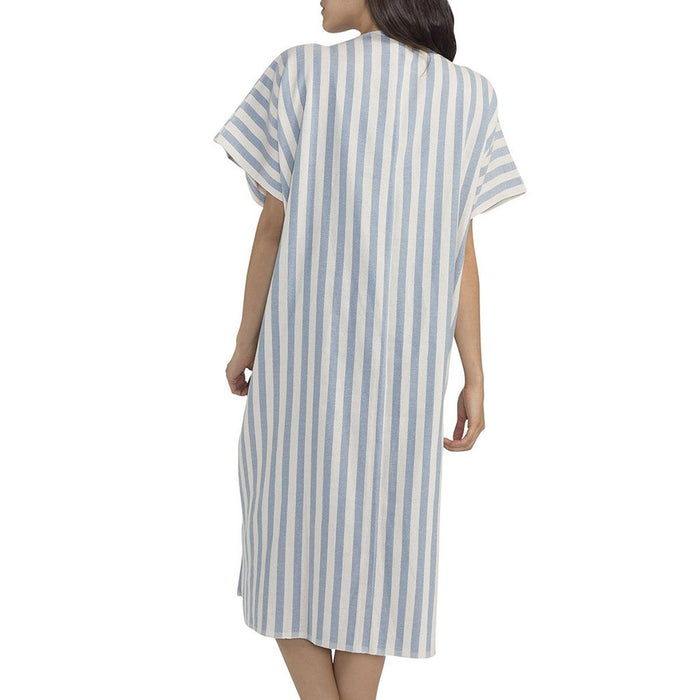 Ocean Nautical Stripe Turkish Kimono