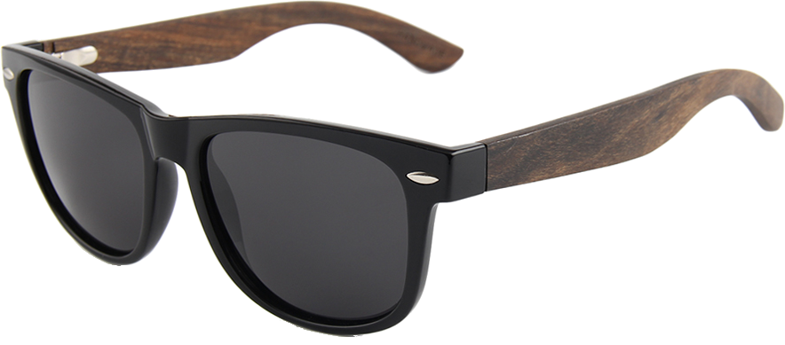 Real Ebony Wood Wanderer Sunglasses by WUDN