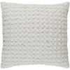 Woven Decorative Throw Pillow in White