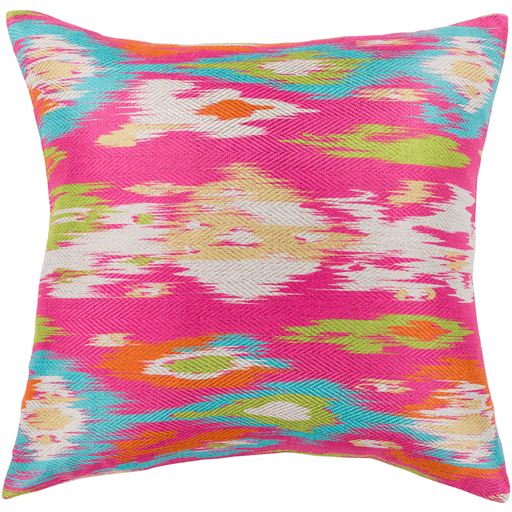 Liberty Decorative Throw Pillow in Bright Pink | Uniquely Living