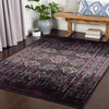 Mumbai Area Rug in Dark Purple