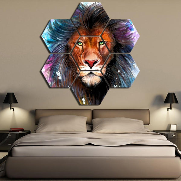 Scared King Link Hexagonal Canvas Wall Art | Uniquely Living