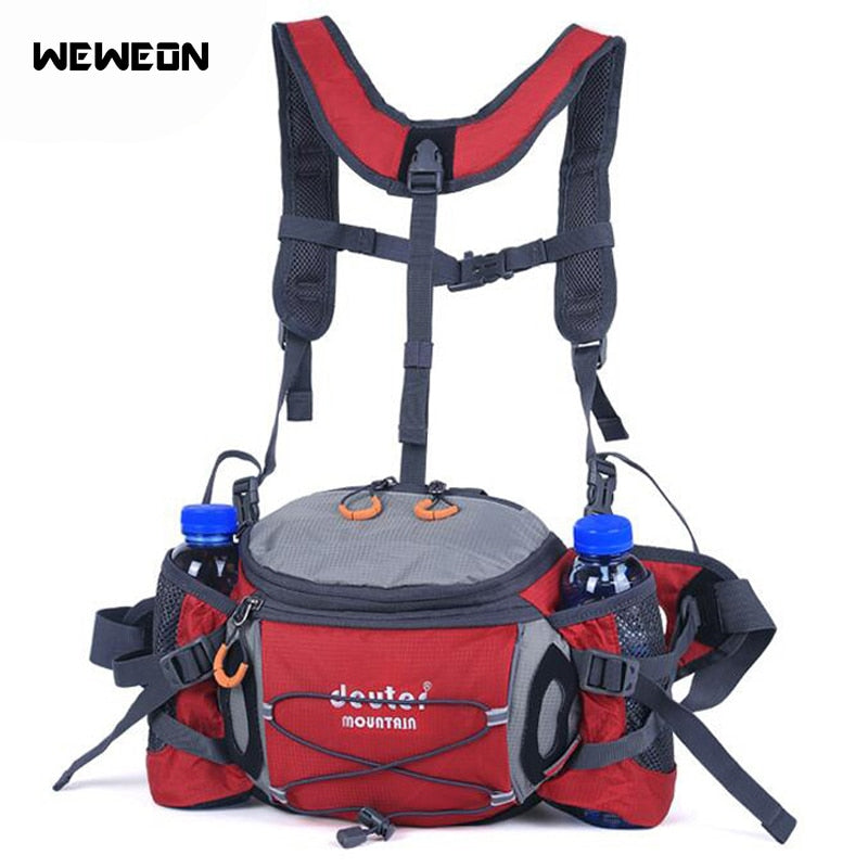 Multifunctional Waist Bags for Running Hiking Packs Outdoor Cycling Climbing Sport Penny Bags with Bottle Holders Mountaineering