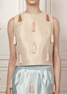 Guadalupe Top with tassle embellishment