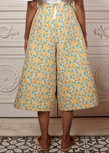 Noa Floral Structured Culottes with pleated waist
