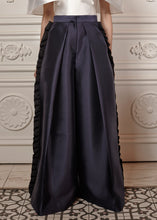 Load image into Gallery viewer, Luna Oversized Structured Palazzo Pants with side ruffles