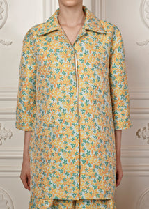 Relaxed-fit Danna Floral Jacket with three-quarter sleeves