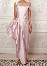 Load image into Gallery viewer, Ariana Gown with side peplum and crystal embellishment