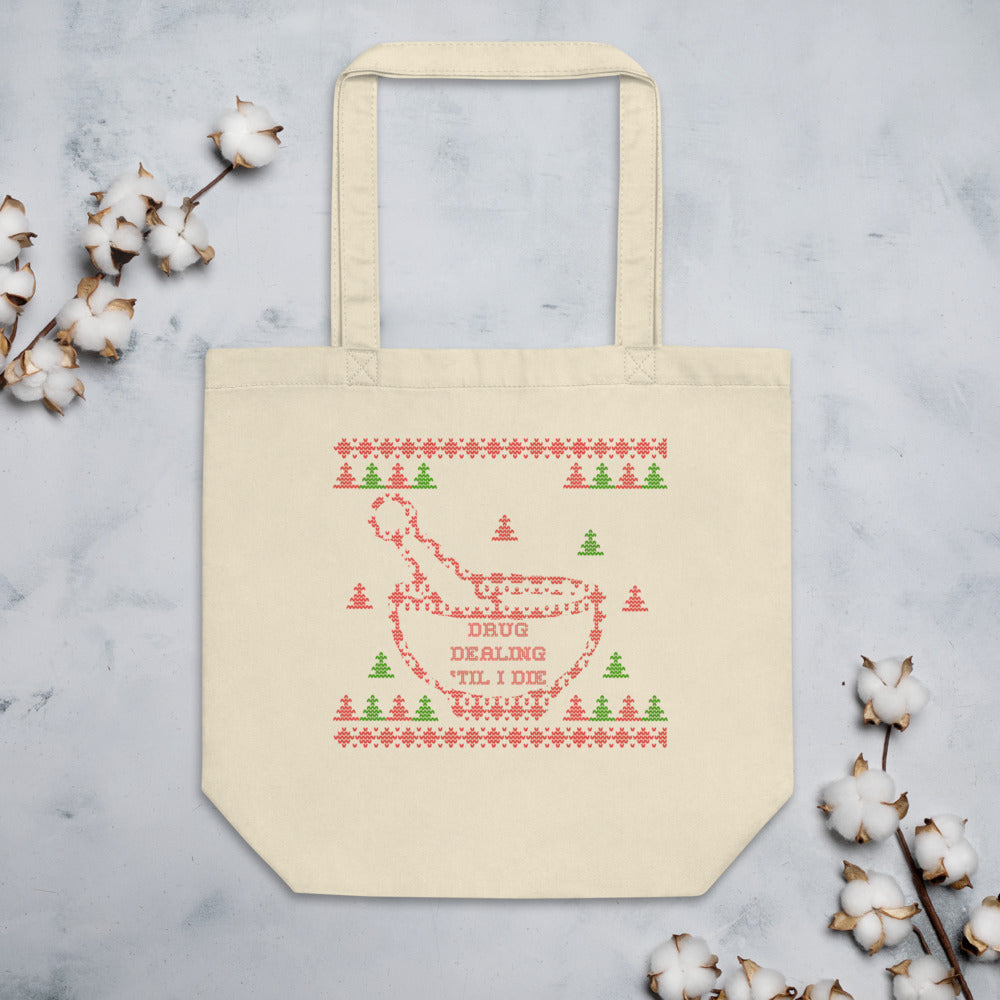 Pharmacy Themed Ugly Christmas Sweater Style Eco Tote Bag