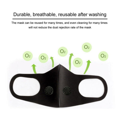 Double Valve Antivirus Masks PM2.5 Activated Carbon Filter Insert Can Be Washed Reusable Mouth Masks