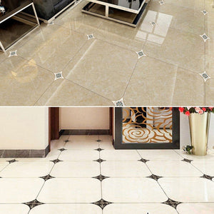 21pcs/lot Self Adhesive Ceramic Tile Stickers Waterproof Wall Sticker Art Diagonal Floor Stickers Kitchen House Decoration
