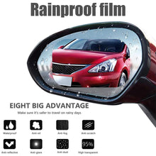 Load image into Gallery viewer, Car Rearview Mirror Rainproof Film Full Screen Glass Anti Fog Reflective Mirror Universal Film