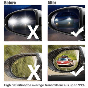 Car Rearview Mirror Rainproof Film Full Screen Glass Anti Fog Reflective Mirror Universal Film