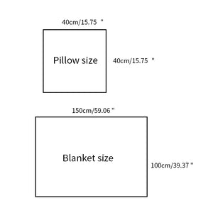 Napping Pillow Sleeping Pillow Chair Cushion 2 In 1 Cushion Blanket Sofa Cushion Throw Pillow Quilt for Office