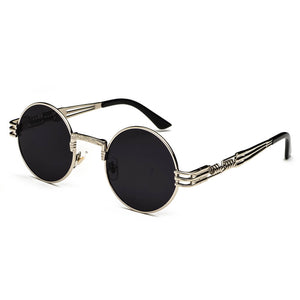 silver steampunk sunglasses