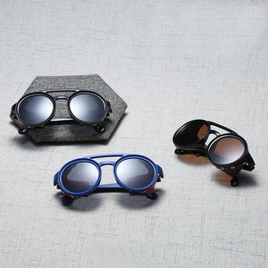steampunk sunglasses with leather side shields