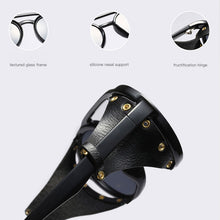 Load image into Gallery viewer, steampunk sunglasses with leather side shields