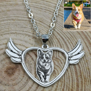 Personalized Angel Photo Necklace