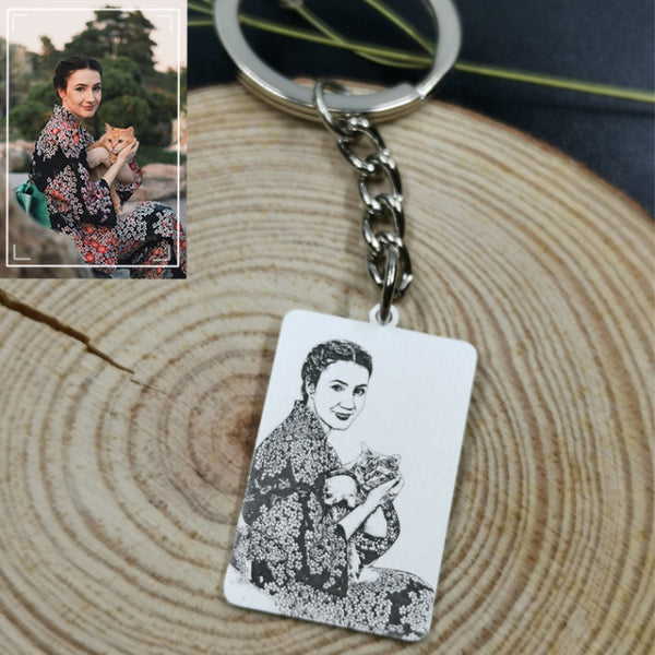 Personalized Rectangle Photo Necklace