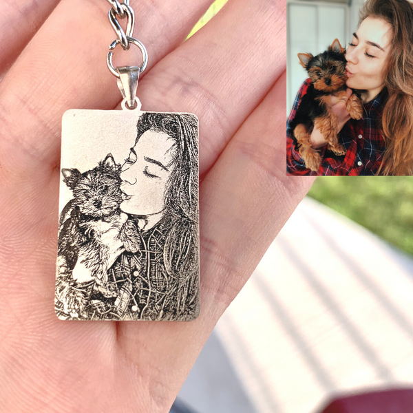 Personalized Rectangle Photo Keychain