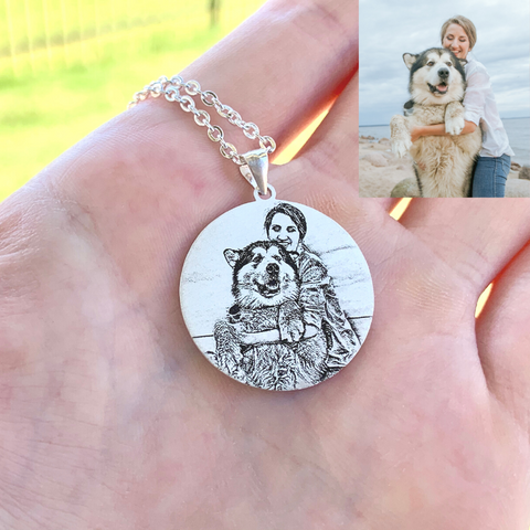 Custom Circle Photo Necklace