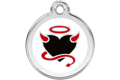 Red Dingo Enamel Pet Tags