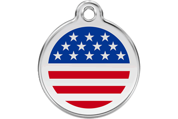 United States Flag Pet Tag