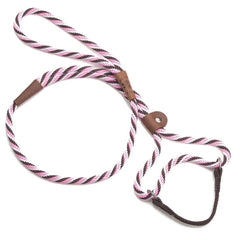 Mendota Dog Walker Martingale Lead Pink Chocolate