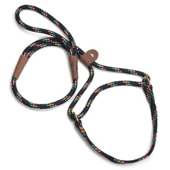 Mendota Dog Walker Martingale Lead Black Confetti