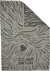 Dog Hair Don't Care Jacquard Towel Front