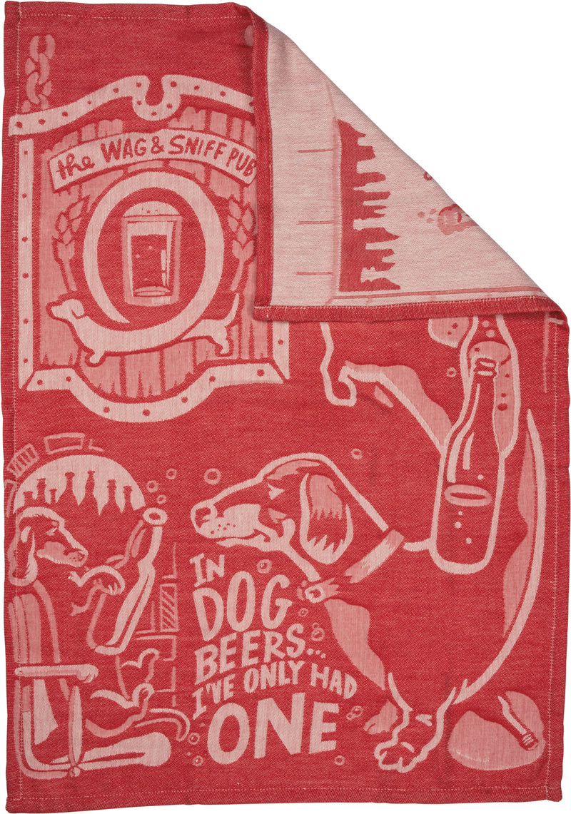 In Dog Beers I've Only Had One Jacquard Towel Front