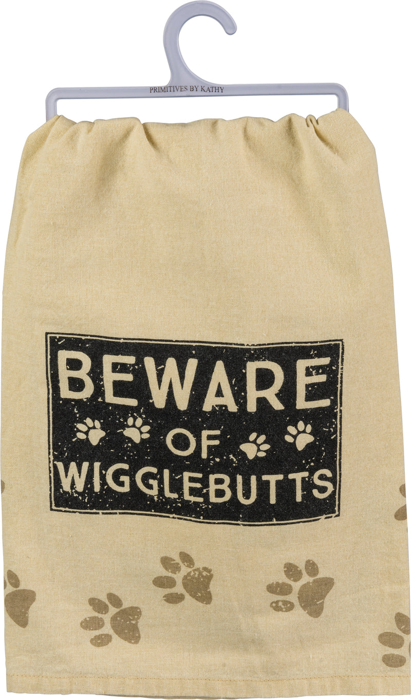 Beware of Wigglebutts Dish Towel