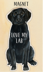 Black Lab Magnet