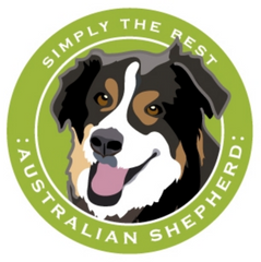 Simply the Best Car Magnet Australian Shepherd