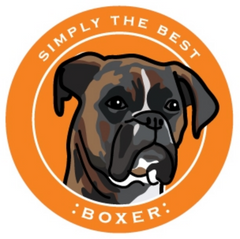 Simply the Best Car Magnet Boxer (Brindle)