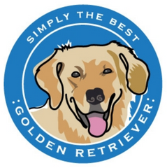 Simply the Best Car Magnet Golden Retriever