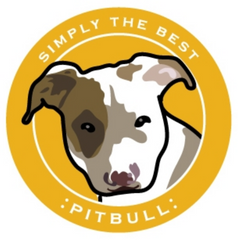 Simply the Best Car Magnet Pitbull