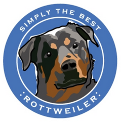 Simply the Best Car Magnet Rottweiler