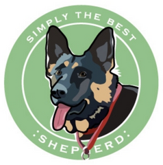 Simply the Best Car Magnet German Shepherd