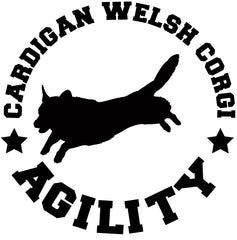 Cardigan Welsh Corgi Agility Decal