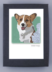 Pembroke Welsh Corgi Red and White Adult Boxed Note Cards