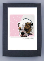 Paper Russells Boxed Note Cards - English Bulldog