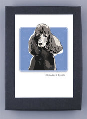 Black Poodle Boxed Note Cards
