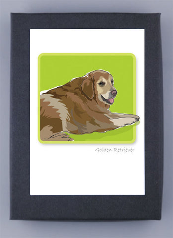 Paper Russells Boxed Note Cards - Golden Retriever